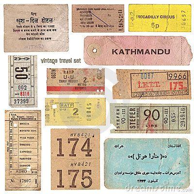 Documentos De Viagem Do Vintage