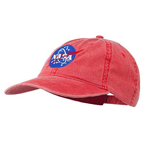 NASA Insignia Embroidered Pigment Dyed Cap - Red OSFM E4hats http://www.amazon.com/dp/B00PKL6HM4/ref=cm_sw_r_pi_dp_JQg-vb1YYEFEF