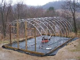 diy hoop house this site has .pdf instructions - we made one (15x20) for a few hundred. There is a greenhouse supply place in Aurora (south of Canby) you can get the 5year plastic at. Get an off cut, cheaper!