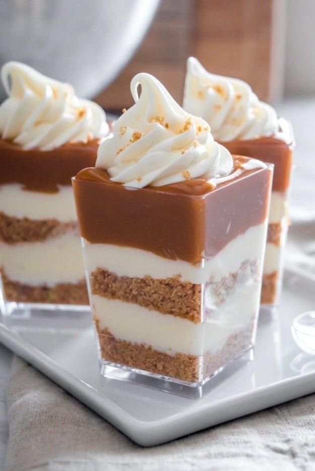 Caramel Cheesecake Shooters.