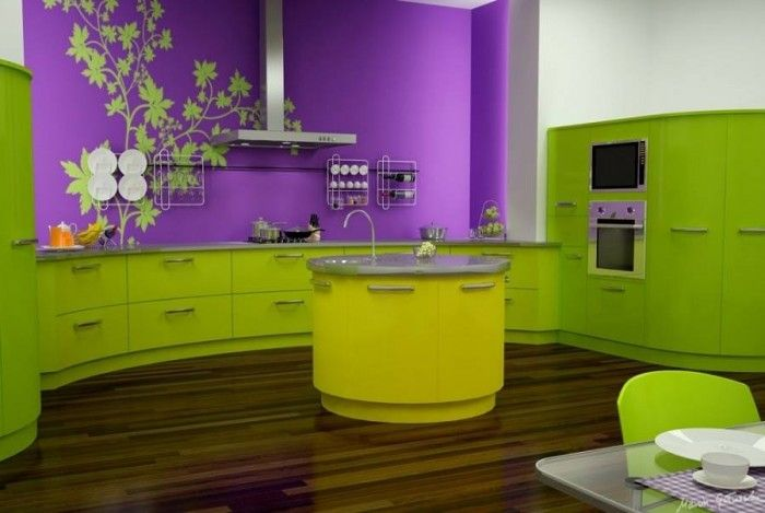Ravishing Modern Purple Kitchen