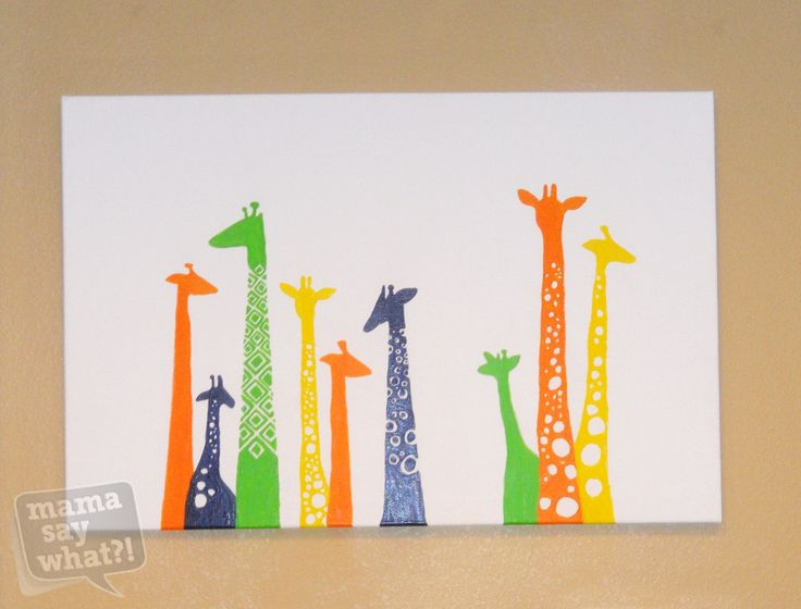 Cute cheap and easy colorful diy canvas painting for Diy art projects canvas