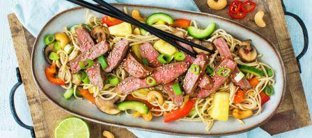 Heerlijke Thaise noedels met Natuurvlees entrecote + 5 tips