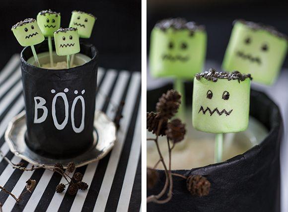 Halloween herkut Kotiliesi-blogissa Kotiliesi.fi Marshmallows for a Halloween party