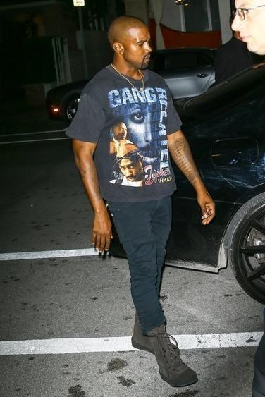 Kanye West wearing Yeezy Season 2 Military Crepe Boot in Oil