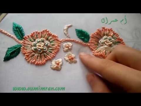 Hand Embroidery - Stitching Tutorial by Hand -الطرز باليد أم عمران - YouTube