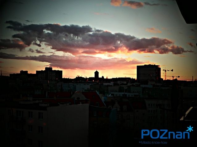 Poznan Poland, zachód słońca nad Jeżycami [fot. A. Murawska]
