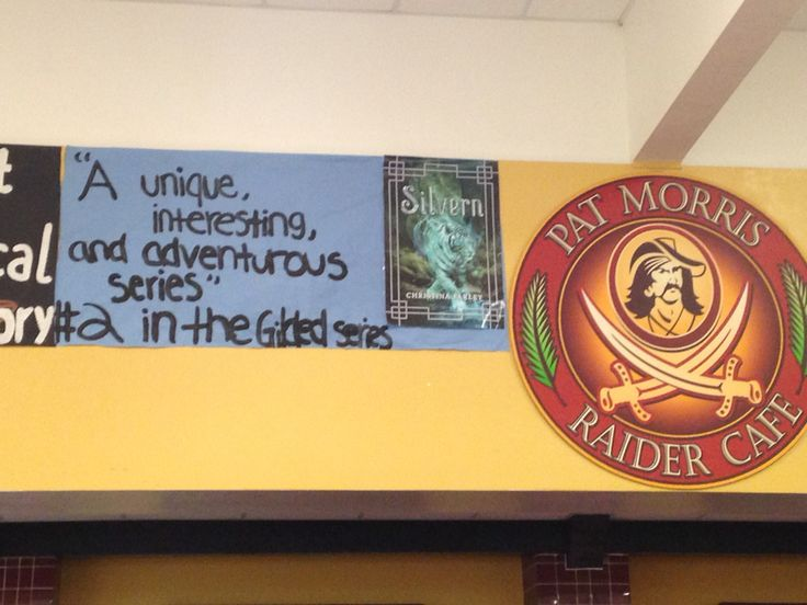 Banner of SILVERN in the cafeteria of Riverdale High School.