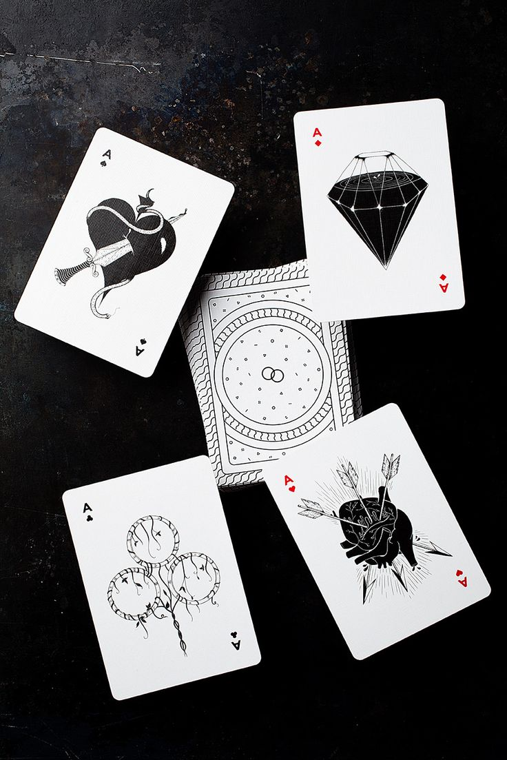 Flesh & Bones is a completely custom, hand illustrated deck of playing cards, designed in London by Dual Originals and produced by DeckStarter.  Each card has been rigorously designed to create a unique deck that combines digital precision with illustrative flair.  The court cards feature detailed, hand-drawn illustrations based on mythical creatures like the Kraken and a Nymph, and ancient gods, such as Triton and Medusa.