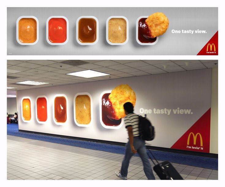 Case: One tasty view アメリカのダラスで実施されたアウトドア広告をご紹介。 ファストフードチェーンレストランのマクドナルドは、世界でも数多くの空港の中にその店舗を構えています。
