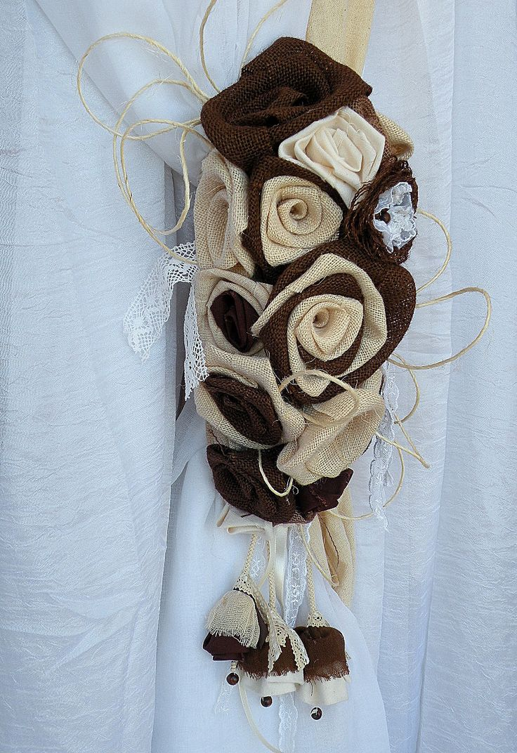 burlap-flowers-bouquet-curtain-tie-back