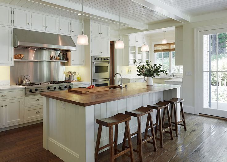 Contemporary Craftsman Style Residence Clean lines, gorgeous wood  countertop, stainless backsplash