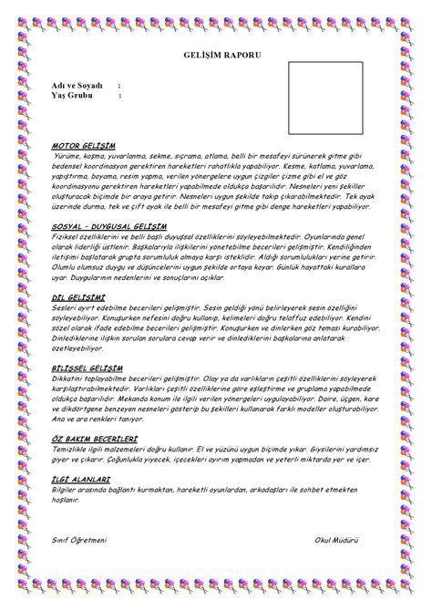 1.Dönem Gelişim Raporu Örneği-5