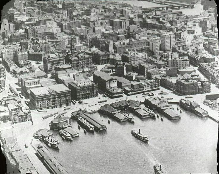 Aerial photo over Circular Quay,Sydney in 1924.