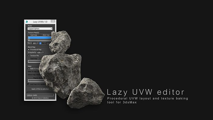 Lazy UVW editior - Procedural UVW layout and texture baking tool for 3dsMax | ScriptSpot