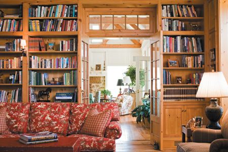 Built in bookcases in federal home