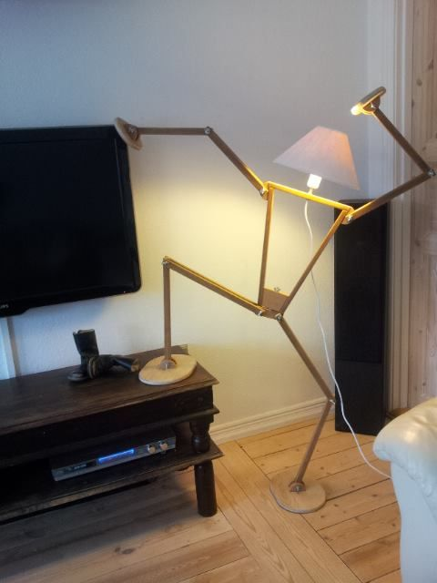 Funny lamp made by Uffe Stahl Nielsen