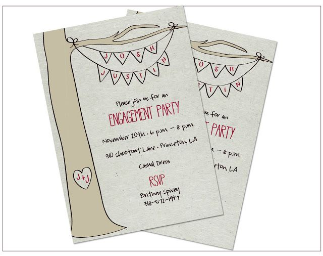 engagement party invitations | Pinch of Lovely: Outdoor Engagement Party Invitations