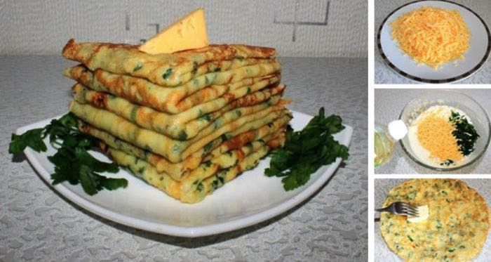 NapadyNavody.sk | Jednoduchý fotorecept na najlepšie slané palacinky s cesnakom, syrom a bylinkami