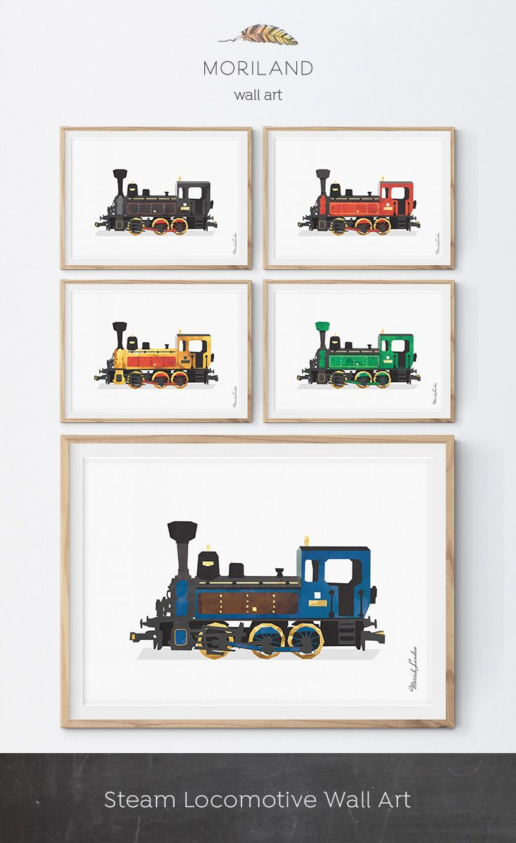 Train Print Steam Locomotive Print Train Printable