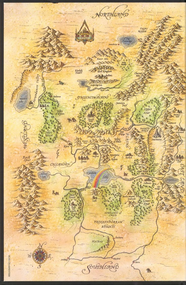 Terry Brooks Map Index Of Shannara Series Terry