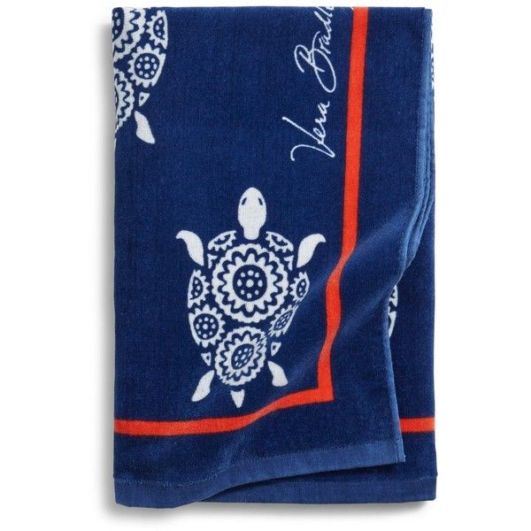 Vera Bradley Beach Towel in Turtles (46 CAD) ❤ liked on Polyvore featuring home, bed & bath, bath, beach towels, turtles, vera bradley, oversized beach towels and vera bradley beach towel