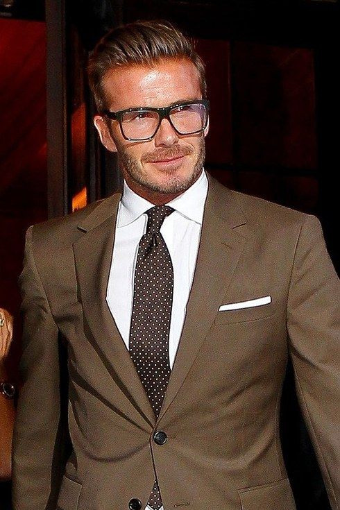 David Beckham really wonders how you do it all. | 23 Pictures That Prove Glasses Make Guys Stupidly Hot