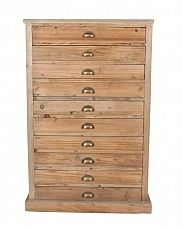 Reclaimed Pine Tallboy – 10 drawers