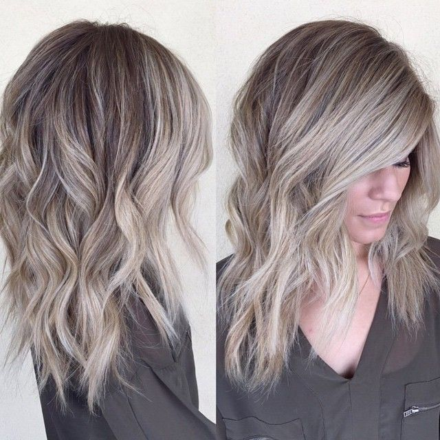 Grayish blonde hair