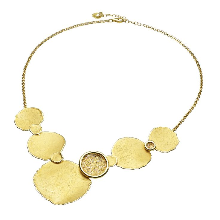 Oxette Gold plated Silver 925 Necklace - Available here: http://www.oxette.gr/kosmimata/kolie/necklace-mat-45cm-gold-plated-silver-361l-1/