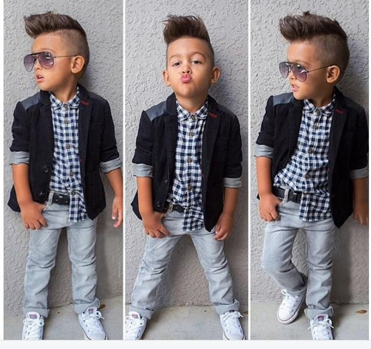 Boys Suit Outfits Coats Shirt Jeans Sets Euro Style Boys