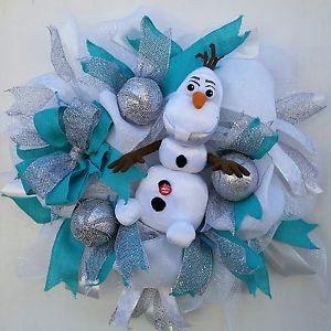 26'' Frozen Olaf Wreath Home Decor Birthday decor talking olaf! Christmas ready.