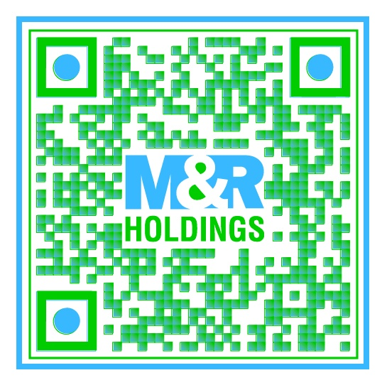 Check out this Super Cool Custom Branded QR Code for M & R Holdings by The www.RentSeeker.ca Team