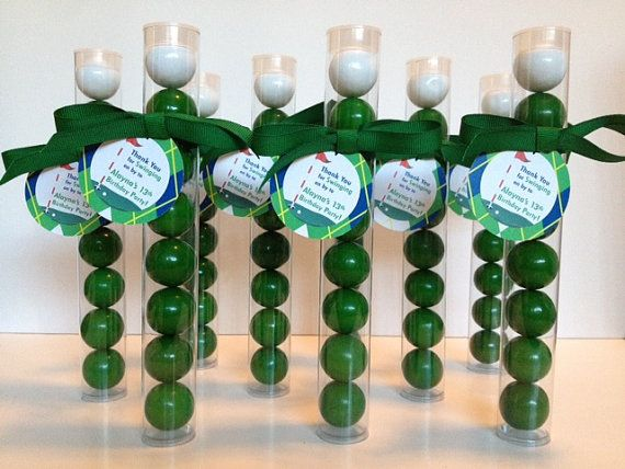 Top Golf Party Gumball Tube Golf  Party Favor Set of 12