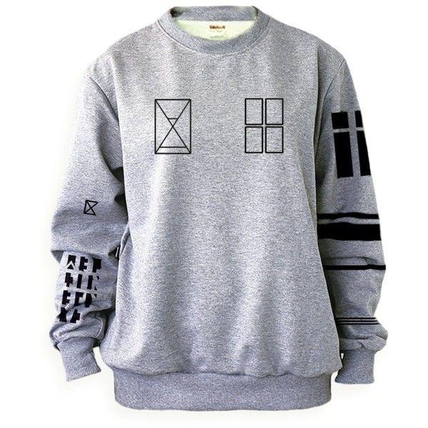 Noonew Women's Twenty One Pilots Tyler Joseph Tattoo Sweatshirt... ($29) ❤ liked on Polyvore featuring tops, hoodies, sweatshirts, pullover sweatshirt, shirt top, gray pullover, gray shirt and pullover shirt