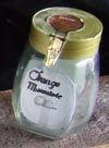 Jar of Orange Marmelade. Of course it was empty.