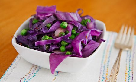Ensalada de repollo colorado ideal para bajar de peso. ~ Dietas fáciles para bajar de peso.