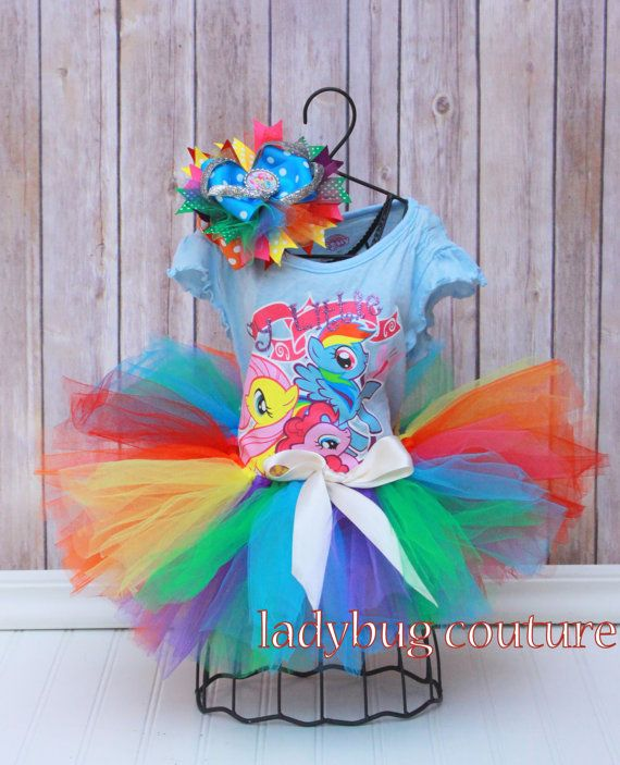 My Little Pony Birthday Tutu Outfit 2t 3t 4t by LadybugCoutureOKC, $40.00