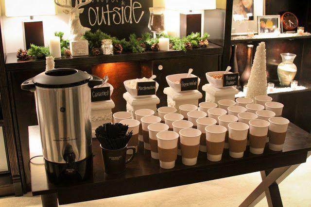 Hot chocolate station wedding day blisswedding day bliss - Ideas para porras ...