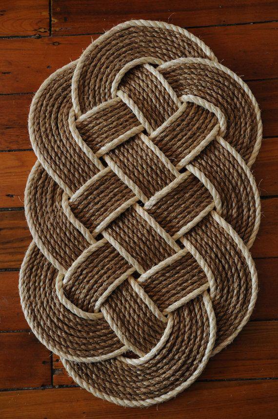 Cuerda de la alfombra decoración náutica cuerda Manila