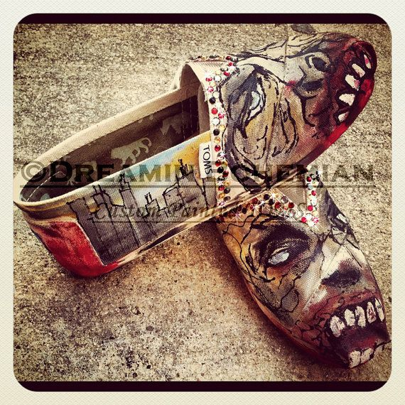 Zombies painted on TOMS