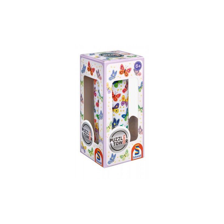 Kirakó torony- Lepkés/Pillangós, Puzzle Tower Butterfly, logikai játék 6 éves kortól - Schmidt Spiele #AkebiaJáték #akebiajatek