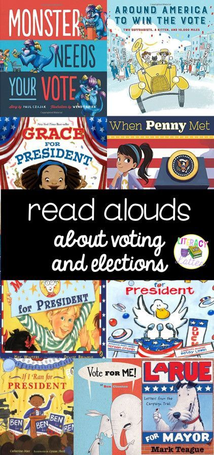 Read alouds for teaching voting and elections in kindergarten and first grade.