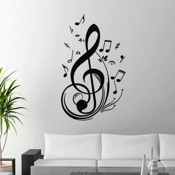 Les 48 meilleures images propos de dessin sur pinterest for Decoration murale note de musique