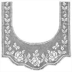 Rose and Butterfly Lace Border Filet Crochet Pattern | Claudia ...