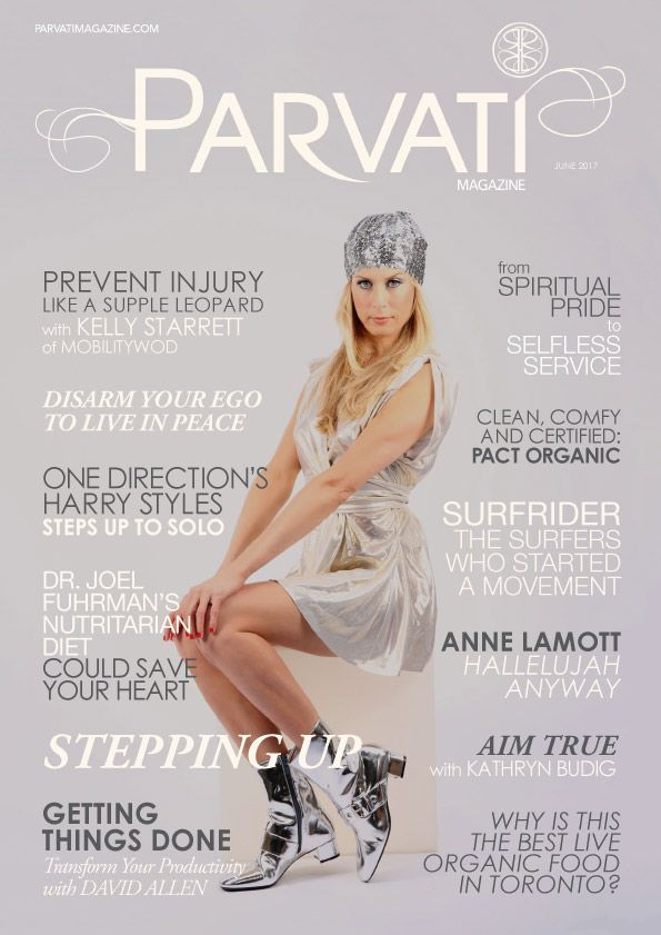 """The June 2017 issue of Parvati Magazine is live on the theme """"Stepping Up"""". Hear from Kathryn Budig, Kelly Starrett, PACT Organic, Dr. Joel Fuhrman, """"Getting Things Done""""'s David Allen, and more!  In these intense times, it is more important than ever to feed your mind, heart and soul with that which makes you the most patient, kind, wise and loving person possible, to help ease the suffering in the world.  May this month's articles nourish your being so you may serve a world in need."""
