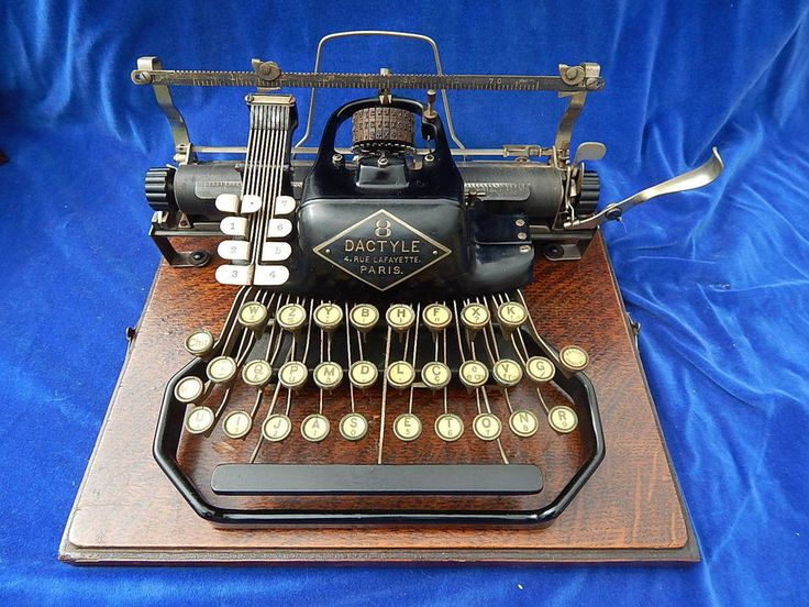 ANCIENNE SUPERBE MACHINE A ECRIRE / Old typewriter - 8 DACTYLE - RARE ! TOP !   eBay