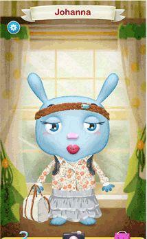 Bunny påklædningsdukke som app