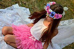 Detské oblečenie - `romantic pink` suknicka - 5780721_