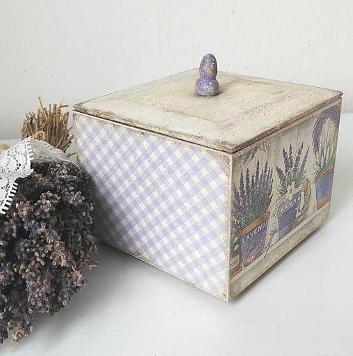 tinuszDecorArt / Krabička levanduľová
